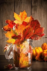 tarro cristal otoño